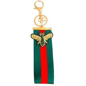 Accessories - HOT🔥🆕Red and Green Bee Keychain with Rhinestones